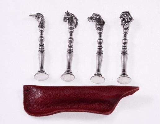 Тампер трубочный Lubinski «Животные», Натуральное серебро FP105 вид 2