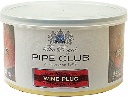 Трубочный табак The Royal Pipe Club Wine Plug 100 гр. вид 1