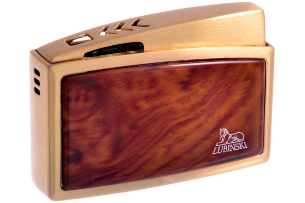 Зажигалка Lubinski Модена Золотая с Коричневым WC121-6 вид 1