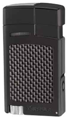 Зажигалка Xikar 523 BKCF Carbon Fiber Black вид 1
