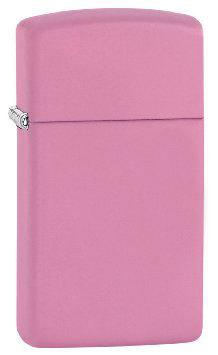 Зажигалка Zippo 1638 Slim Pink Matte вид 1