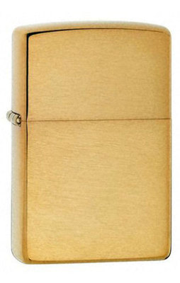Зажигалка Zippo 204B Brushed Brass вид 1